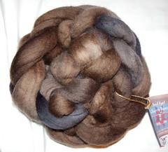 Churro Bunny Tops Walnut (ixchelbunny) Tags: rabbit bunny knitting hand sheep crochet spinning angora navajo weaving tops rare dyed blend churro breeds ixchel ixchelbunny