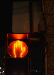 Red Handed (nic_r) Tags: road street light red crossing hand walk dont signal redhanded handed
