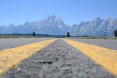 the road to tetons (sidrk) Tags: road mountains yellowstone wyoming moran grandteton jacksonlake