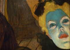 Toulouse-Lautrec, At the Moulin Rouge with detail of blue face