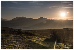 First Light on Birker Fell **Explored** (LoveLakesLife) Tags: sun mist mountains silhouette misty sunrise dawn early lakes lakedistrict explore cumbria fells flare eskdale lll birker ulpha explored devoke