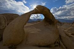 Mobius Arch - - - Sierra Portal (ernogy) Tags: california nature rock landscape photography desert beam formation whitney sunburst sierranevada lonepine easternsierra alabamahills whitneyportalroad mobiusarch ernogy