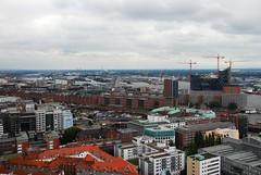 View towards Hafen City_Hamburg (bobarcpics) Tags: river germany hamburg urbanrenewal hafencity hamburgskyline