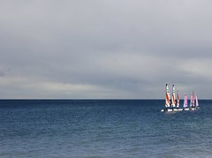 Sailing Boats On The Horizon