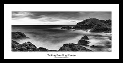 Tacking Point Lighthouse (John_Armytage) Tags: blackandwhite bw lighthouse seascape beach rocks australia textures nsw canon5d portmacquarie lighthousebeach canon2470l leefilters tackingpointlighthouse leebigstopper johnarmytage wwwjohnarmytagephotographycom