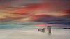 St. Mary's Posts (Alistair Bennett) Tags: longexposure sunset seascape coast rocks posts stmarys whitleybay tynewear oldhartley nd30 baitisland gnd075he gnd045se nikkorafs50mmƒ18g