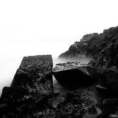 -nt- (yoga - photowork) Tags: longexposure morning blackandwhite bw panorama beach nature canon indonesia landscape photography angle wide wideangle symphony 1022mm twop wow1 landscapephotography beautifulmorning inspiredbylove rockpaper 550d morningactivity trasognoerealtà landscapebeauty anawesomeshot beautifulindonesia flickaday worldtrekker visitindonesia onewordwow internationalflickrawards flickrclassique