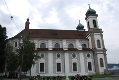 Lucerne - Jesuit Church East Side Jesuitenplatz 4 (Le Monde1) Tags: church switzerland town nikon side luzern east altstadt lucerne canton vierwaldstttersee jesuit swissalps lakelucerne d60 riverreuss jesuitenplatz lemonde1