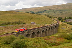 Just Dandry (Feversham Media) Tags: cumbria freighttrains tugs dbs garsdale settlecarlisle class60 settlecarlislerailway garsdalehead dandrymireviaduct dandrymire dbschenker