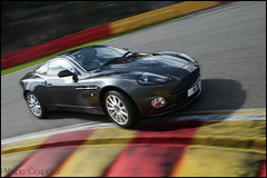 Aston on track! (Philippe Coupatez) Tags: auto red car sport yellow speed jaune rouge nikon track martin circuit luxe aston astonmartin vantage d700 nikond700 coupatez coupatezphilippe