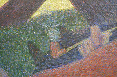 Seurat, A Sunday on La Grande Jatte—1884, detail with pipe