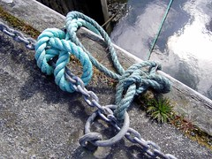Chained rope or roped chain? (DizDiz) Tags: uk wales island anglesey april2009 olympusc720uz