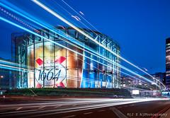 BFI IMax ([J Z A] Photography) Tags: uk blue light london glass lights trails hasselblad kronenbourg waterloo imax 1664 bfi phaseone britishfilminstitute arcbody hasselbladarcbody averyassociatesarchitects apograndagon35mm