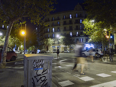 FLERT  LISP (TRUE 2 DEATH) Tags: barcelona graffiti spain sticker nightshot lisp catalonia espana catalunya aub 3e slaptag flert lexample 3ek ricohgriii