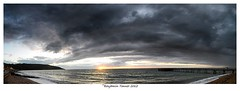 Totland (frattonparker) Tags: sunset sea sky beach water clouds boats pier sand surf waves solent piling isle englishchannel wight timbers lamanche dinghies tamron1024mm nikond5000 colorefexpro4 btonner frattonparker