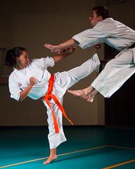 Karate Summer Camp 2012-019 (Flavio~) Tags: portrait sidekick girl kick martialarts karate