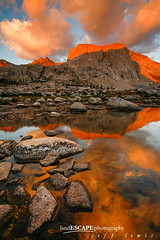 Lines of Fire (landESCAPEphotography | jeff lewis) Tags: california ca travel sunset usa lake mountains reflection jeff nature water clouds sunrise canon landscape photography nationalpark unitedstates hiking scenic lewis canyon sierra trail backpacking yosemite 5d canon5d sierranevada sequoia landescape alpenglow highsierra kaweah mineralking jefflewis canoneos5d stunningskies landescapephotography