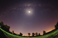 Lights from the Countryside (lrargerich) Tags: moon night way landscape telescope astrophotography astronomy setup milky milkyway observing starparty