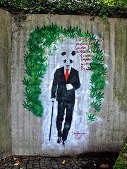 HH-Stencil 438 (cmdpirx) Tags: urban streetart color colour art cutout painting fun one graffiti stencil paint panda hamburg humor can spray drug layer multiple hh farbe schablone strassenkunst