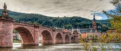 Old Bridge in Heidelberg (m@yphotos) Tags: bridge panorama oktober river deutschland nikon october heidelberg brcke fluss hdr neckar 2012 oldbridge badenwrttemberg heiliggeistkirche d90 photomatix altebrcke aufnahmeart mygearandme blinkagain flickrstruereflection3 flickrstruereflectionlevel1