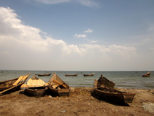 Fishing boats in Uganda. Photo by Beth Timmers, 2011