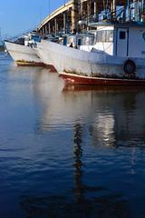 Bay Beauties (lazytinka) Tags: ocean blue reflection water boats bay texas gulf