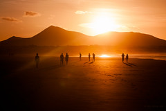 Lost Souls (Alessio Albi) Tags: sunset beach silhouette surf tramonto lanzarote canary emotive famara canarie