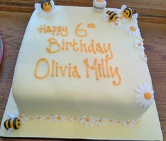 Honey Bees Birthday Cake