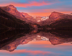 Lake O'Hara Sunset - Canadian Rockies (kevin mcneal) Tags: park lake canada mountains reflections britishcolumbia national ohara yoho canadianrockies