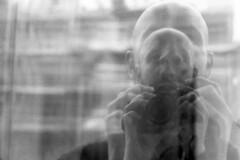 self [analog] (__J) Tags: canona1 a1 canon canonfd 50mm canonfd50mm18 berlin film analog scanned scan analogue blackandwhite schwarzweis sw bw monochrome monochrom chm400 iso 400 iso400 chmfilm grain spiegelung mirroring reflection distorted selfportrait selbstportrait selfie double doublereflection