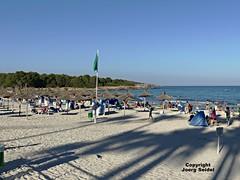 ES-07560 Sa Coma (Mallorca) Strand/Beach/Playa im Juli 2016 (Joerg Seidel) Tags: mallorca majorca spain beach playa strand kste seaside landschaft calaromantica portochristo sacoma calamillor badefreunden schwimmen sonnenschirme sand urlaub holidays