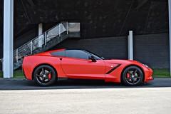 red corvette with black wheels (Exotic & Luxury Cars) Tags: corvette exotic car chevrolet 777exotics la beverly hills ca