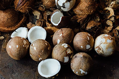Cracked Coconuts (AdamCohn) Tags: adamcohn demak indonesia tuban coconut coconuts market wwwadamcohncom