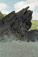 Lantic Bay, Cornwall (Kate of Allen) Tags: cornwall lanticbay revueflex 35mm film analogue colour rockformations rocks beach coast southwest england