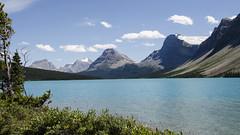 Bow Lake View  DSL4129 (iloleo) Tags: landscape bowlake mountains vista summer banffnationalpark alberta nikond7000 scenic nature colourful canada