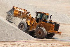 CAT 966F (cheliman) Tags: catapillar loader wheelloader gravel stockpile cat 966 ashtabula oh sunny outdoors summer
