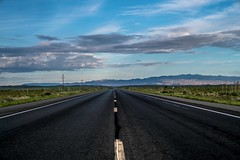 highway 380, new mexico (Eric Baggett) Tags: newmexico highway380 nowhere remote alone mountains openroad sonya7rii clouds sky blue green distance perspective desolate