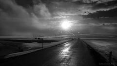 Driving through four seasons (lunaryuna) Tags: iceland centralnorthiceland highlands roadtomyvatn myvatnregion weather road ontheroad journey travel voyage weathermood spring season seasonalchange allfourseasonsinone snow ice blizzard sunshine clouds rain blackwhite bw monochrome lunaryuna ladnscape slky cloudscape