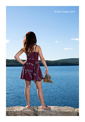 Mikaela at The Quabbin (Peter Camyre) Tags: summer outdoor casual photoshoot peter camyre photography people female model pose posing flickr beautiful girls pretty face faces fashion glamor vogue camera canon speedlite portrait border eyes lighting quabbin reservoir hair lens friends ef2470mmf28liiusm