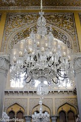 Son: Ami you really need to take a look inside the palace!!!   Me: *casually walks in*... *looks up*... and  SUBHAN'ALLAH! (Not gonna lie but it took me a while to take in and appreciate the sheer beauty o (Sarwat Baig) Tags: life love hyderabaddiaries durbarhall hyderabadi indiansummer chowmahallaplace hyderabad asafjahi india butterflybaig butterflybaigphotography wanderlust nizam interiordesign india2016 architecture adventure traveldiaries chandeliers travel travelphotographer myhyderabadmyindia asafjahidynasty mughalarchitecture travelindia