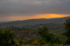 View on the Lubron mountains after a heavy rain (loic_monteil) Tags: lubron vaucluse france gordes toursim travelling landscape mountain garrigue trees tree nature sunset twilight