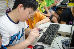 DSC_0708 (roger528852momo) Tags: 2016           little staff person explore summer camp hokuzine ever worker china youth corps ying qiao elementary school arduino robot food processing workshop taipei taiwan roger huang roger528852momo