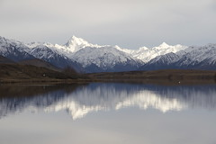 Mt D'Archiac viewed from Lake Clearwater, Ashburton Lakes, Canterbury, New Zealand (Steve Attwood) Tags: landscape auldwoodphotography ashburtonlakes otewharekai conservationpark water light reflection sky cloud snow mountain stillness newzealand canon southislandhighcountry lake winter mtdarchiac lakeclearwater