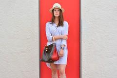 Model: Anastasia Shokodko (Niko Kyrylenko) Tags: model art fashionphotography denver colorado denverfashion myaka 50mm nikon awesome red hat style beauty amazing cute louisvuitton ulyssenardin