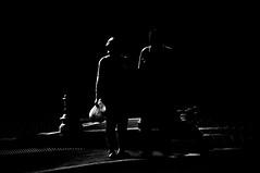 Maybe  !!!! (imagejoe) Tags: vegas nevada street strip black white photography photos shadows reflections people nikon