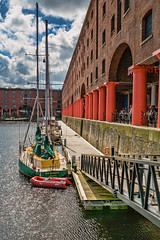 Liverpool August 2016_0064-Edit (Mark Schofield @ JB Schofield) Tags: liverpool england architecture buildings royal liver albert dock river mersey ferry city sunny day bank holiday renovated crowds people street canon 5dmk3