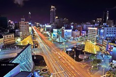 IMG_7582 () Tags:         longexposure    night taiwan kaohsiung city buildings cars street light