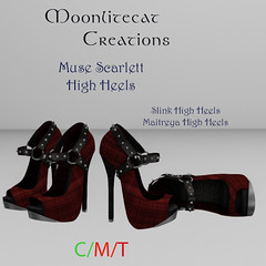 Muse Scarlett High Heels Ad Pic (moonlitecat) Tags: hunt your inner slut moonlitecat creation mesh slink belleze maitreya fimesh rigged high heel collar gacha spikes leather punk skirt haltertop halter top laced vest mens men women womens moon moonlite hudded texture change