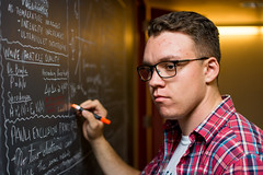 future engineer of berkeley (johnxiao) Tags: berkeley math chem chalkboard chalk orange black victor ucberkeley studying portrait unit3