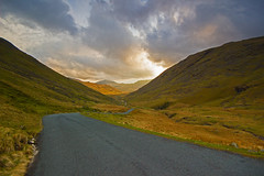 Descending Wrynose Pass (Tom.Sheppard) Tags: sunset mountains canon landscape scenery lakedistrict pass sigma valley cumbria 1020mm hardknott wrynose 600d